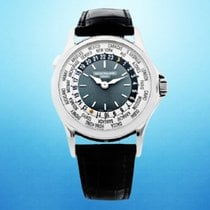 Patek Philippe World Time Platinum 37mm Blue United States of America, New York, New York