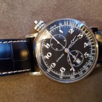 Longines Avigation Steel 47mm Black Arabic numerals