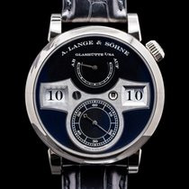 A. Lange & Söhne pre-owned Manual winding Black Sapphire crystal
