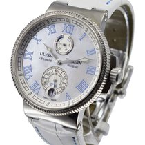 Ulysse Nardin Marine Chronometer Manufacture pre-owned 43mm Mother of pearl Crocodile skin