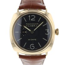 Panerai Rose gold Automatic Black Arabic numerals 45mm pre-owned Radiomir 8 Days