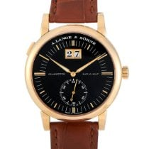 A. Lange & Söhne Yellow gold Automatic Black 38.5mm pre-owned Saxonia