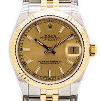 Rolex Lady-Datejust Gold/Steel 31mm Champagne