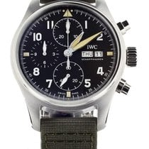 IWC Pilot Spitfire Chronograph Steel 41mm Black