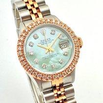 Rolex Oyster Perpetual Lady Date Золото/Cталь 26mm Перламутровый Без цифр