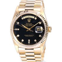 Rolex Day-Date 36 Yellow gold 36mm Black No numerals