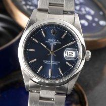 Rolex Oyster Perpetual Date Acier 34mm Bleu