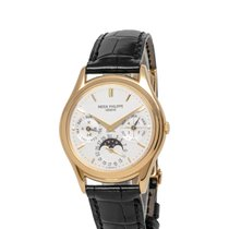 Patek Philippe Yellow gold Automatic Silver 36mm pre-owned Perpetual Calendar