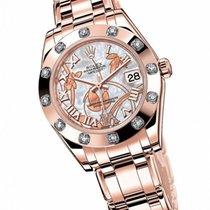 Rolex Lady-Datejust Pearlmaster Pозовое золото 34mm Римские
