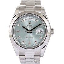 Rolex Day-Date II Platinum 41mm Blue No numerals UAE, Dubai