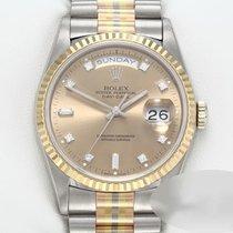 Rolex Day-Date 36 Gold/Steel 36mm Champagne No numerals