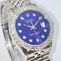 Rolex Oyster Precision Сталь 34mm Синий Без цифр