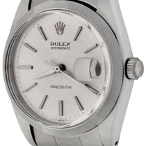 Rolex Steel Manual winding Silver No numerals 34mm pre-owned Oyster Precision
