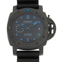 Panerai Luminor Submersible Kol 42mm Svart Inga siffror