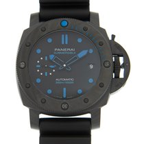 沛納海 Luminor Submersible 碳 42mm 黑色 無數字