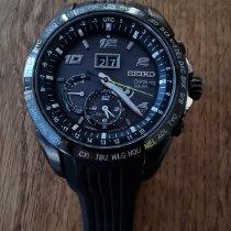 Seiko Astron GPS Solar Chronograph Acciaio 46mm Nero
