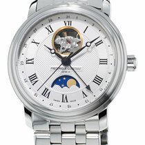 Frederique Constant Steel Automatic Silver Roman numerals 40mm new Classics Moonphase