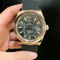 Rolex Sky-Dweller Rose gold 42mm Grey No numerals