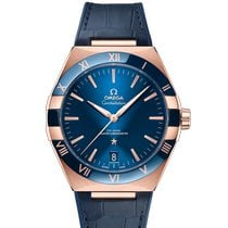 Omega Rose gold Automatic Blue new Constellation