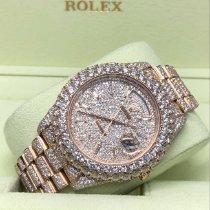 Rolex (ロレックス) デイデイト II ピンクゴールド 41mm ホワイト ローマインデックス
