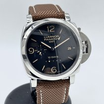 Panerai Luminor 1950 10 Days GMT Steel 44mm Black Arabic numerals