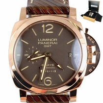 Panerai Luminor 1950 8 Days GMT Rose gold 44mm Brown Arabic numerals United States of America, New York, Smithtown