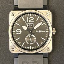 Bell & Ross Steel Automatic Black 42mm pre-owned BR 03-90 Grande Date et Reserve de Marche