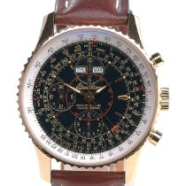 Breitling Montbrillant Datora Rose gold 44mm Black No numerals