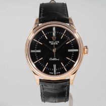 Rolex Cellini Time Oro rosa 39mm Negro Sin cifras
