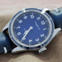 Montblanc 1858 Steel 40mm Blue Arabic numerals