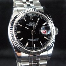 Rolex Datejust Stål 36mm Sølv Arabertal