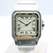 Cartier Santos Galbée gebraucht 29mm Weiß Datum Gold/Stahl