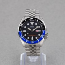 Seiko pre-owned Automatic 41mm Black Mineral Glass 20 ATM