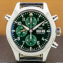 IWC Pilot Double Chronograph Steel 44mm Green Arabic numerals United States of America, Massachusetts, Boston