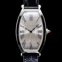 Cartier Platinum Manual winding Roman numerals 26mm Tonneau