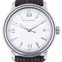 Blancpain Сталь Автоподзавод Белый 38mm подержанные Léman Ultra Slim