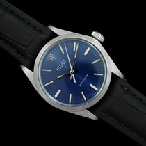 Rolex Steel Manual winding Blue 35mm pre-owned Oyster Precision