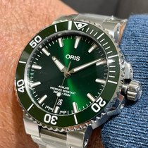 Oris Aquis Date Steel 41,50mm Green No numerals