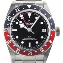 Tudor Black Bay GMT pre-owned 41mm Black Date GMT Steel