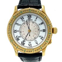 Longines Lindbergh Hour Angle Yellow gold 38mm White Roman numerals