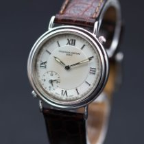 Frederique Constant pre-owned Quartz 35.6 mmmm White Sapphire crystal