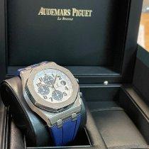 Audemars Piguet Royal Oak Offshore Chronograph Stahl 42mm Weiß Arabisch