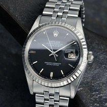Rolex Datejust brugt 36mm Sort Dato Stål