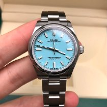 Rolex Oyster Perpetual 31 Staal 31mm Blauw Geen cijfers