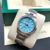 Rolex Oyster Perpetual 31 Steel 31mm Blue No numerals