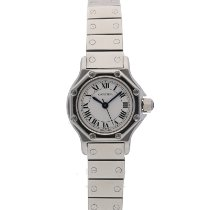 Cartier Steel Automatic White Roman numerals 24mm pre-owned Santos (submodel)