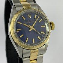 Rolex Oyster Perpetual 26 Or/Acier 26mm Bleu Sans chiffres
