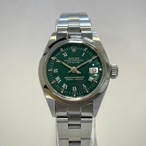 Rolex Oyster Perpetual Lady Date Steel 26mm Green Roman numerals