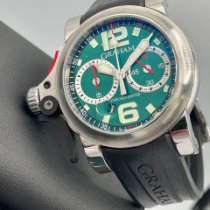 Graham Chronofighter R.A.C. pre-owned 46mm Green Chronograph Rubber
