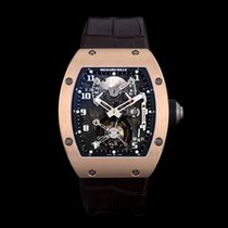 Richard Mille Red gold Manual winding Transparent Arabic numerals new
